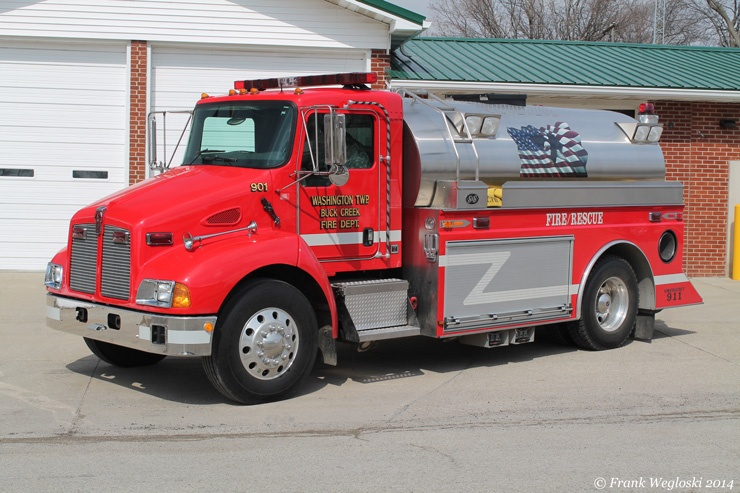 Tanker 901 - 2002 Kenworth T-300/S&S Infinity – 250gpm/2100gal